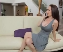 Stepmom Gives Him Handjob to Young Boy and fucks her Doggy position