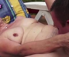 Pussy banged gilf jiggles her big tits