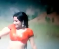 Bollywood age-old actress Rekha hawt navel with an increment of tits jizz graft