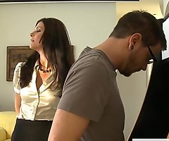 Stockinged mommy india summer gets screwed coupled far facialized