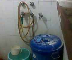 Indian boy wanking in shower